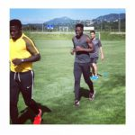 Photos: Free agent brothers Sulley Muntari and Muniru Sulley train as both eye new deals