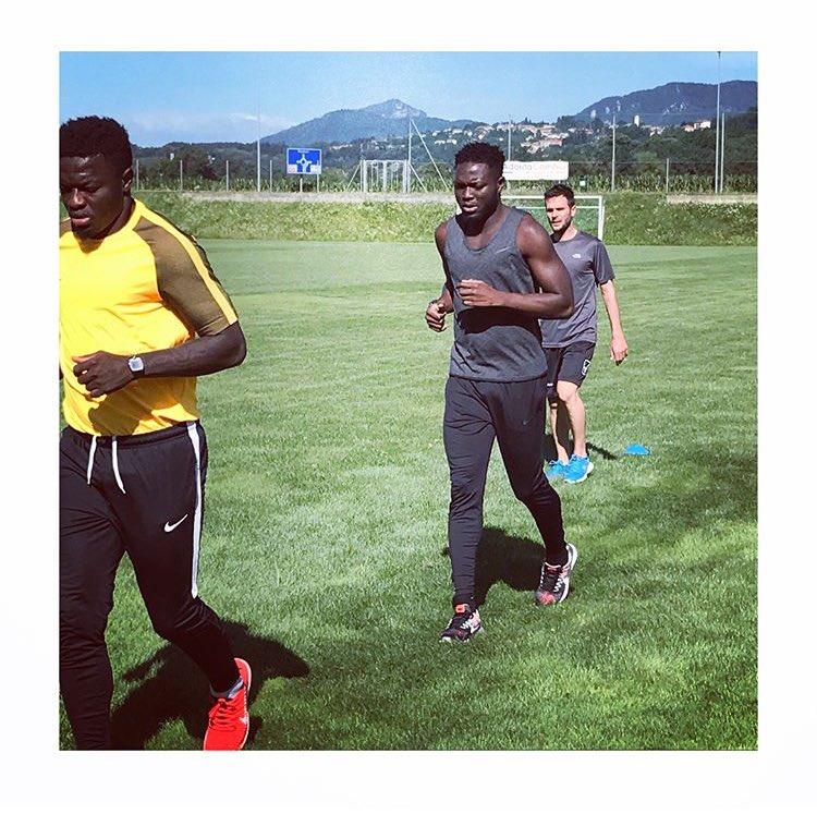 Photos: Free agent brothers Sulley Muntari and Muniru Sulley train as both eye new deals