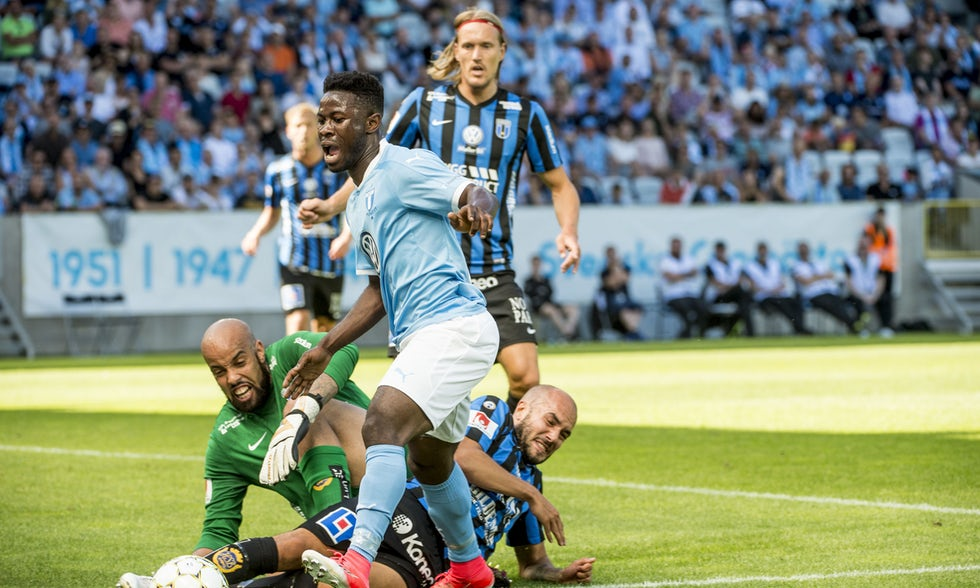 Video: Kingsley Sarfo scores debut goal for Malmo in home draw against Sirius IK