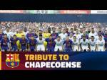 Emotional moment ahead of Joan Gamper trophy game