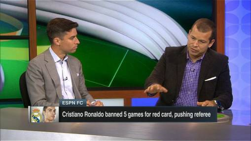 Ronaldo five-game ban upheld - reports