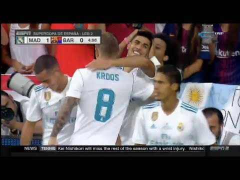 Absolutely Amazing goal by Asensio vs Barcelona ! AGAIN ! 16-08-2017