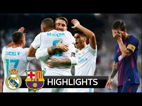 Real Madrid vs Barcelona 2-0 - All Goals & Extended Highlights - Spanish Super Cup 16/08/2017 HD