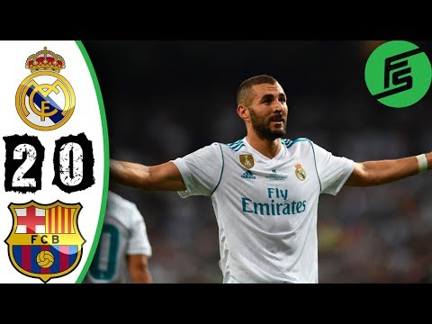 Real Madrid vs Barcelona 2-0 - Highlights & Goals - 16 August 2017