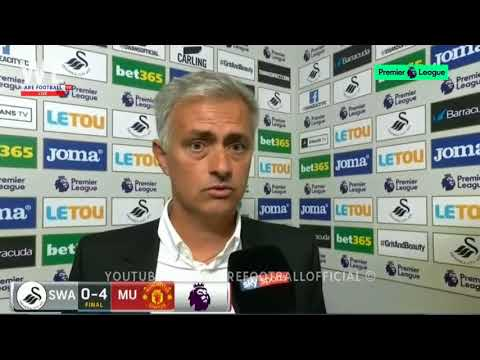 SWANSEA CITY 0-4 MANCHESTER UNITED | POST-MATCH INTERVIEW | Jose Mourinho