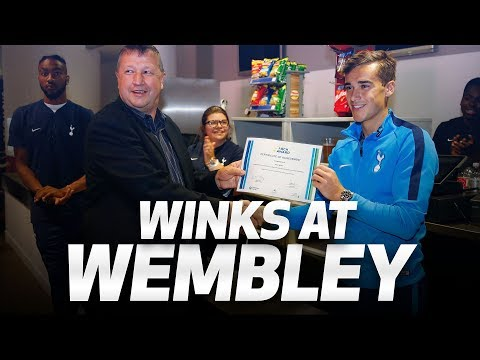 WINKS BEHIND THE TILLS AT WEMBLEY