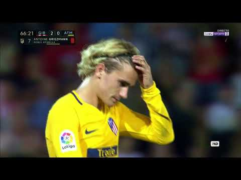 Antoine Griezmann RED CARD – Girona vs Atletico Madrid – 19 August 2017
