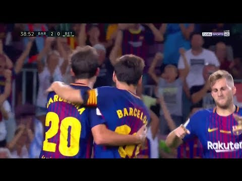 Sergi Roberto Goal - Barcelona vs Real Betis 2-0 - 20 August 2017