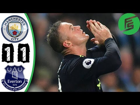 Manchester City vs Everton 1-1 - Highlights & Goals - 21 August 2017