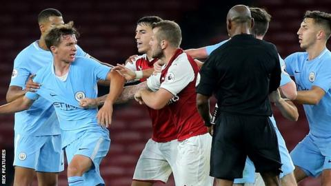 Wilshere sent off after mass brawl in Under-23s match