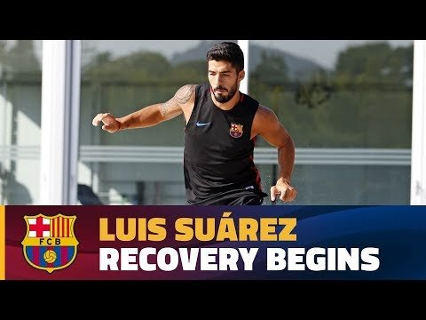 Luis Suárez working on his recovery