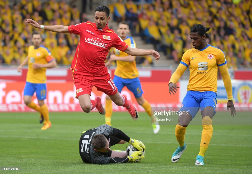 Ghanaian defender Joseph Baffo gets red card as Eintracht Braunschweig exit DFB Pokal