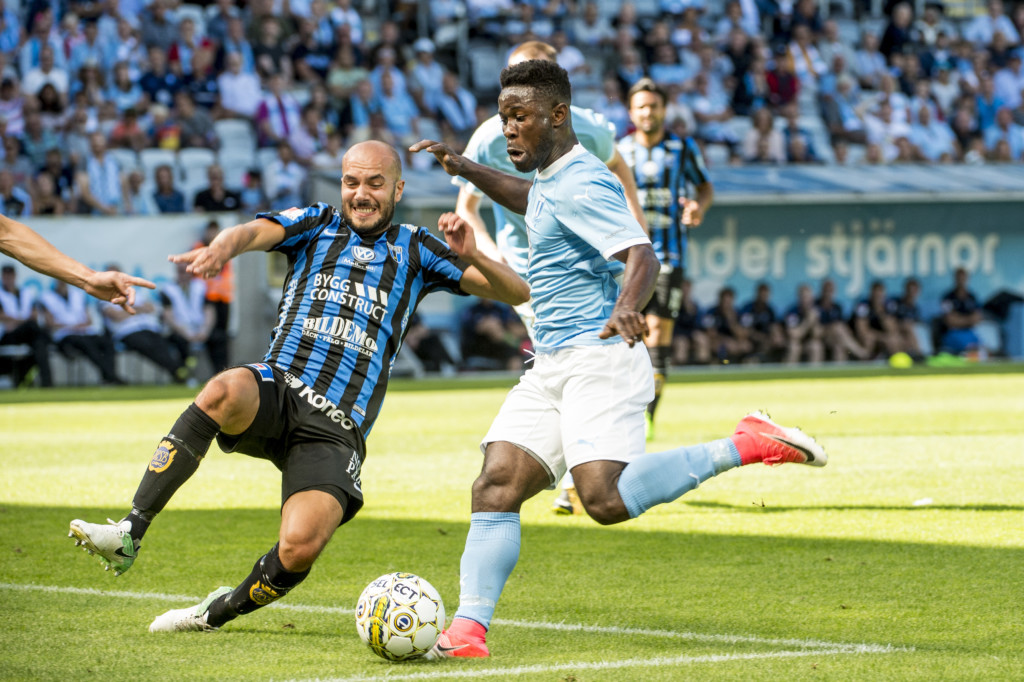 Video: Watch Kingsley Sarfo's fine finish for Malmö FF in 6-0 thumping of Kalmar FF