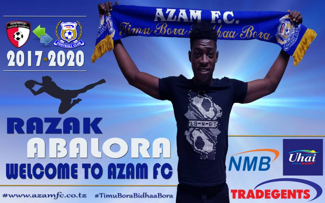 Goalkeeper Razak Abalora confident Azam FC move will catapult career