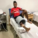 Ghana's diminutive midfielder Clifford Aboagye begins road to recovery after knee surgery