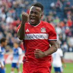 David Accam scores 13th league goal but Chicago Fire suffer first home defeat