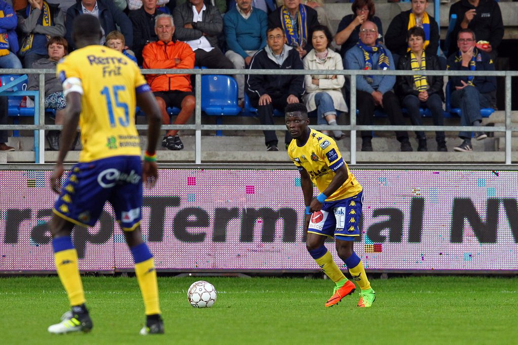 Nana Amponsah scores for Beveren-Waasland in Belgian Jupiler win over KV Oostende