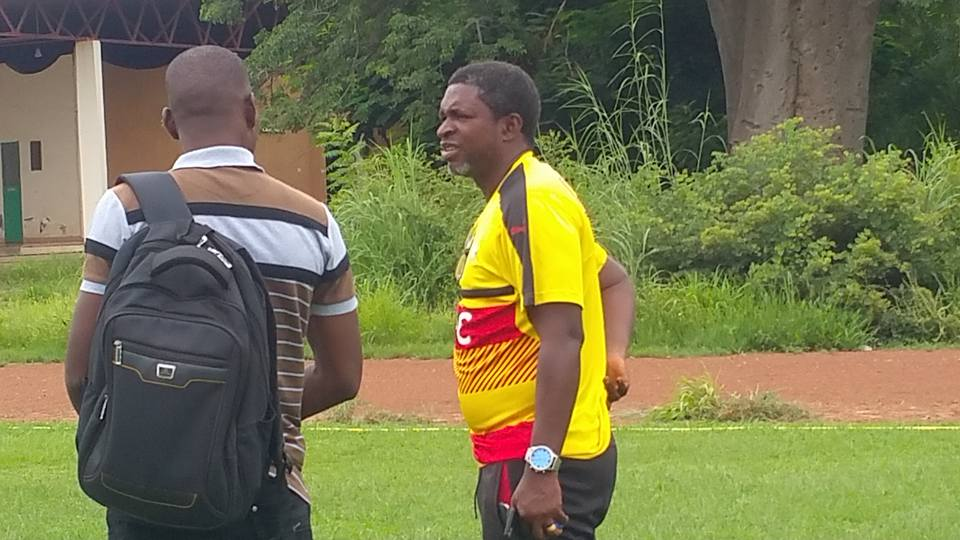 PHOTOS: Black Stars B coach Maxwell Konadu inspects Comet Park ahead of team's first training session