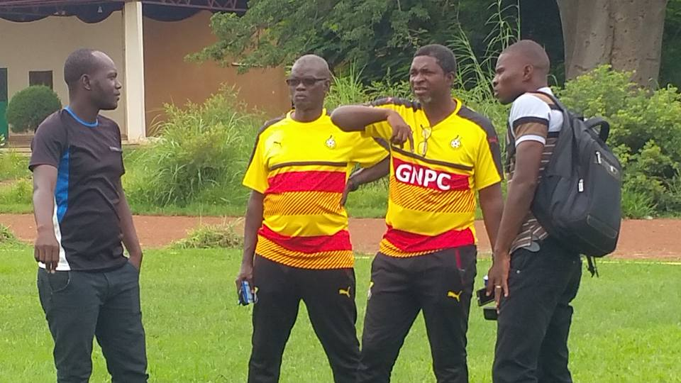 2018 CHAN QUALIFIER: Black Stars B coach Maxwell Konadu inspects Comet Park ahead of team's first training session