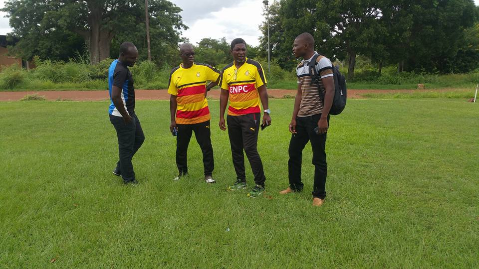 VIDEOS: Black Stars B coach Maxwell Konadu inspects Comet Park ahead of team's first training session
