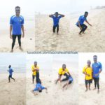 Hearts of Oak defender Inusha Musah hits the beach to step up recovery