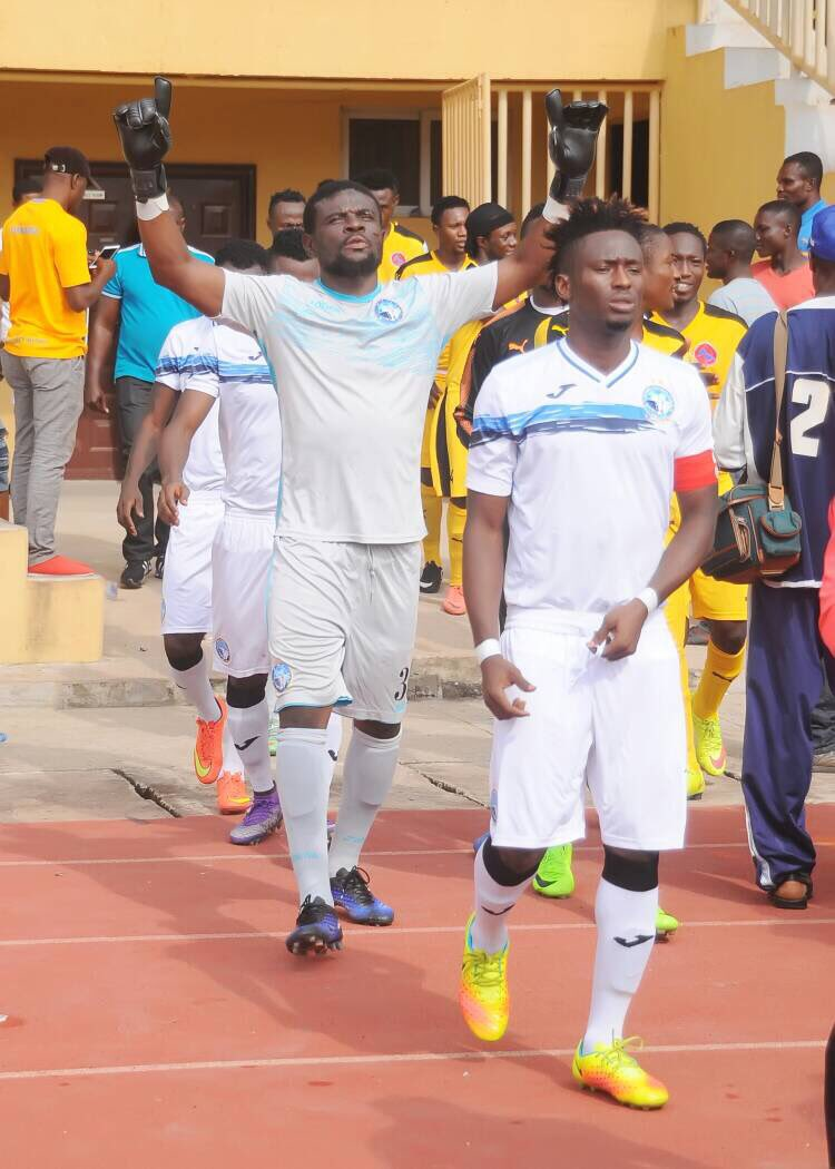 Ghana goalkeeper Fatau Dauda one of the top performers in the Nigerian Premier League