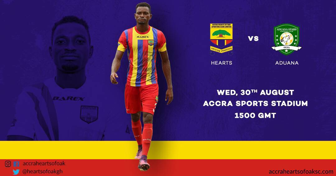 Police officer Prince Amoah to handle Hearts of Oak vs Aduana top-liner; officials for week 26 announced