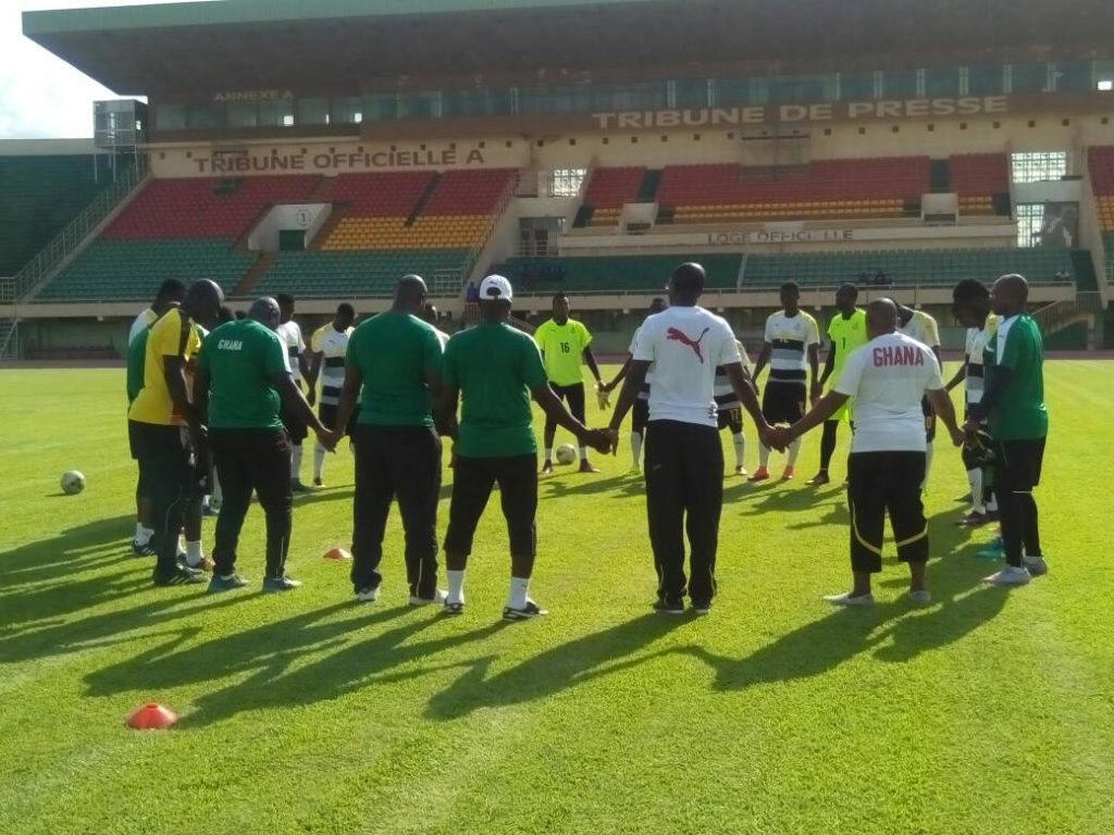 2018 CHAN QUALIFIER: Black Stars B complete mandatory training session at Stadé du 4 Aout