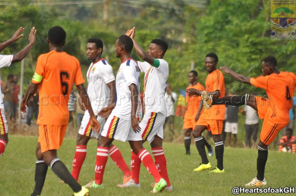Hearts of Oak draw 3-3 with Nkawkaw-based Kaakyire FC in friendly