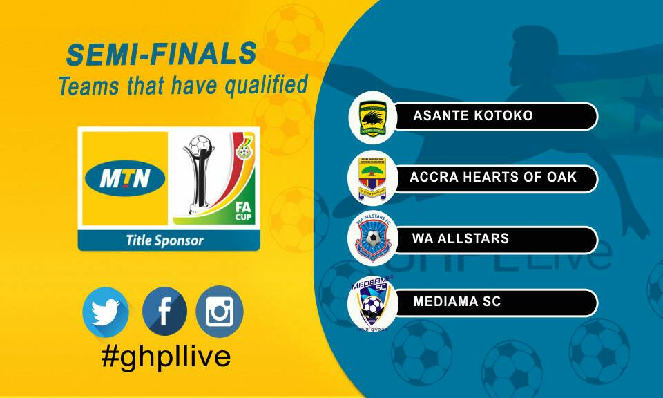 Ghana Premier League giants make up MTN FA Cup semi-final cast