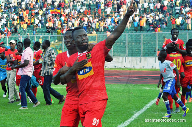 Kotoko striker Saddick Adams lauds referee Gagba's penalty call
