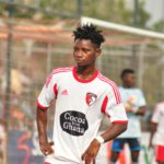 WAFA captain Gideon Waja trains with Black Stars for the first time