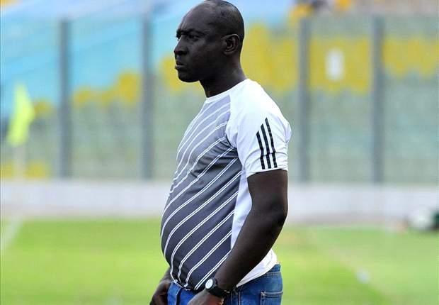 Coach Yusif Abubakar CONTENT with his Aduana Stars squad