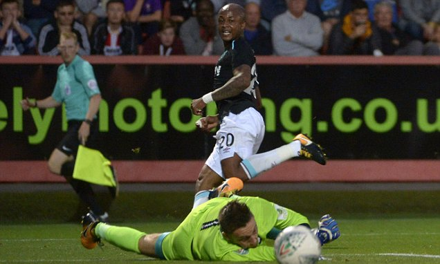 Video: Ghana winger Andre Ayew scores season's first goal for West Ham to seal Cup progress over Cheltenham