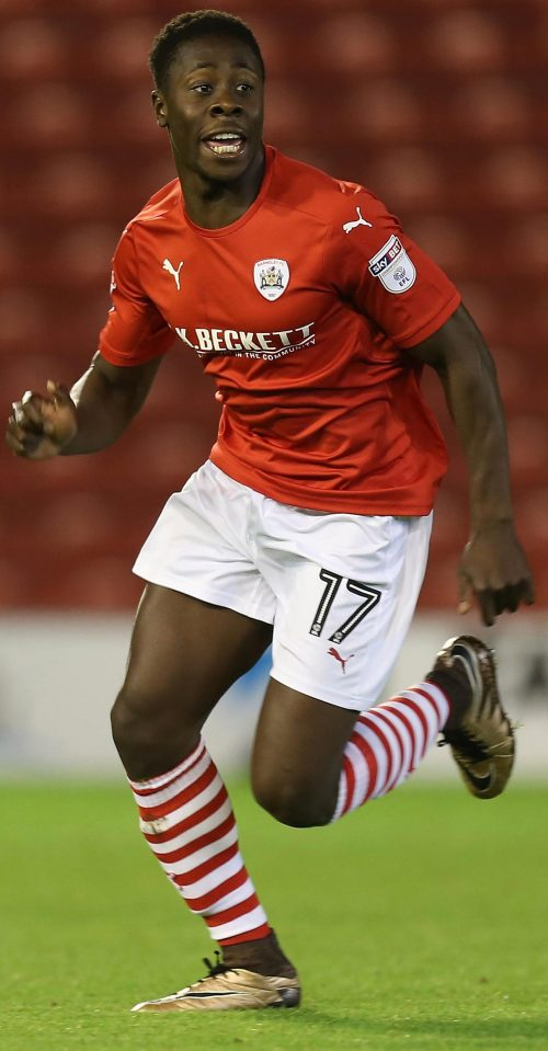 Ghana's Andy Yiadom congratulates Barnsley team-mates after Norwich City stalemate