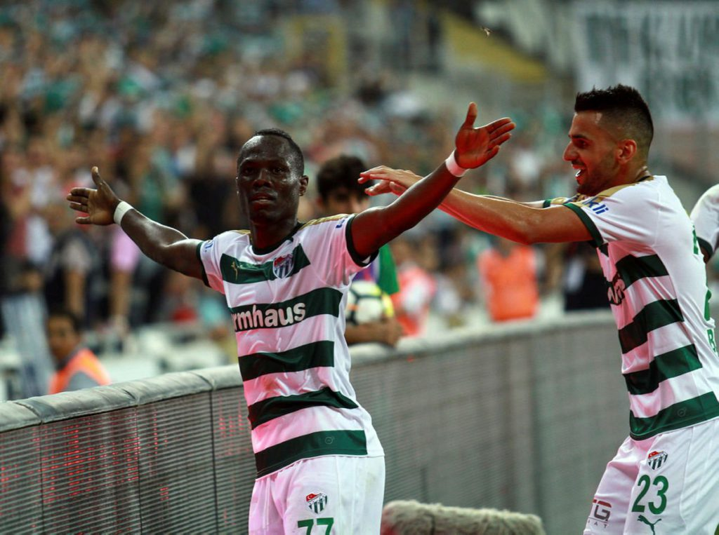 Agyemang Badu on cloud nine for netting first league goal for Bursaspor in Turkey Super Lig