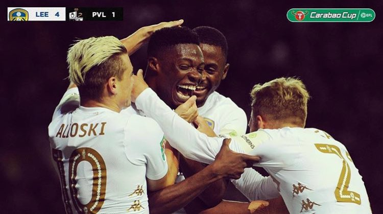 Video: Ghanaian striker Caleb Ekuban scores in his Leeds United debut in emphatic win over Port Vale