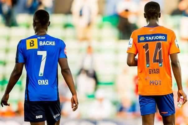 Raymond Gyasi triumph over brother Edwin as Stabaek thrash Aeslund in Norwegian Cup match