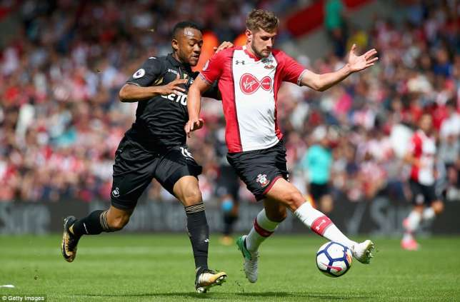 Ghana striker Jordan Ayew instrumental for Swansea City as they frustrate Southampton