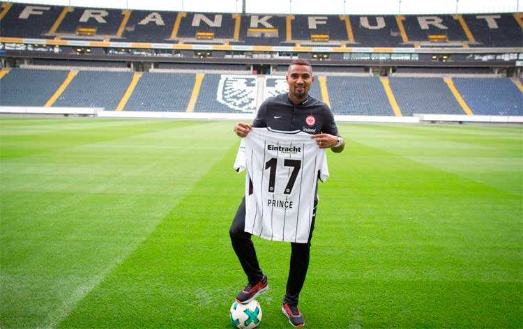 Kevin-Prince Boateng could debut for Eintracht Frankfurt in trip to Frieburg