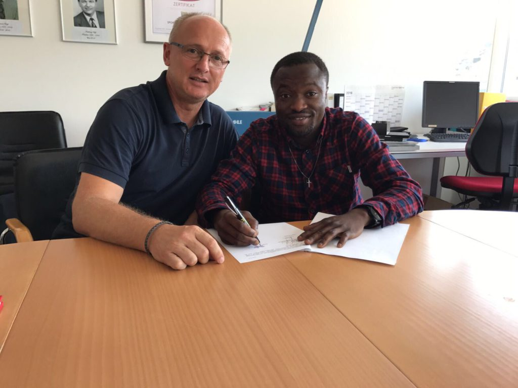Ghanaian striker Bernard Tekpetey arrives in Austria and seals Altach loan move