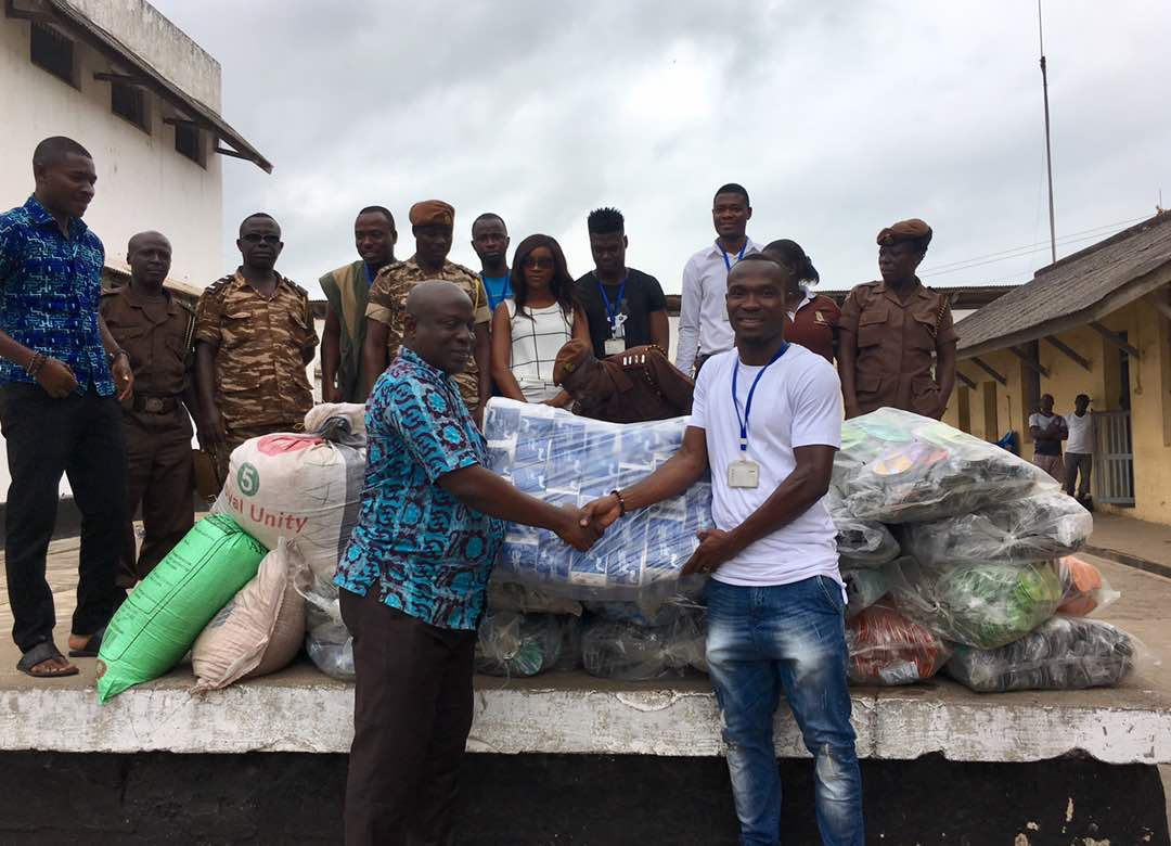 Photos: Al Ahly striker John Antwi takes charity work to the Western region
