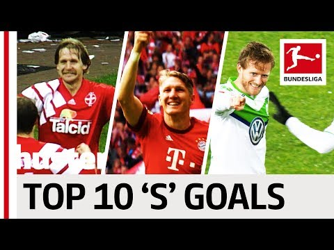 "Top 10 Goals - Players With ""S"" - Schweinsteiger, Sané & Schürrle"