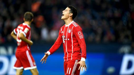 James Rodriguez's dazzling full debut helps Bayern Munich past Schalke