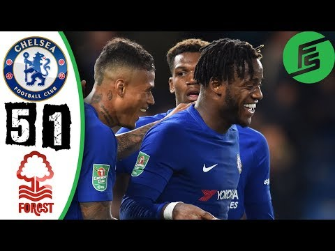 Chelsea vs Nottingham Forest 5-1 - Highlights & Goals - 20 September 2017