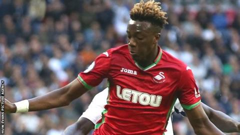 Tammy Abraham: Swansea boss Clement hopes striker opts for England