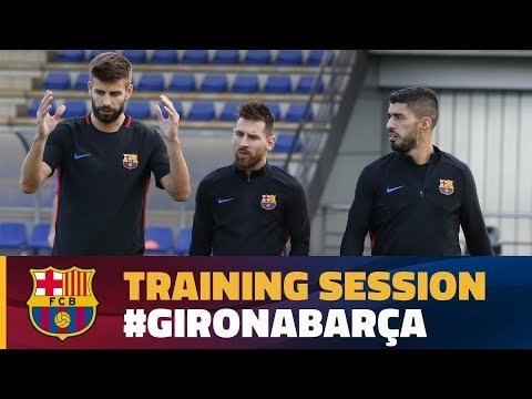 Last workout before the match against Girona