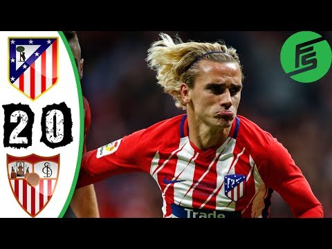 Atletico Madrid vs Sevilla 2-0 - Highlights & Goals - 23 September 2017