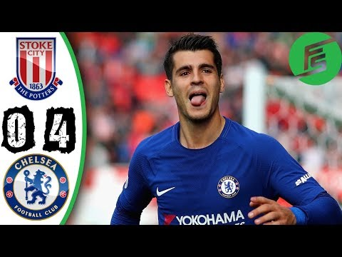 Stoke City vs Chelsea 0-4 - Highlights & Goals - 23 September 2017