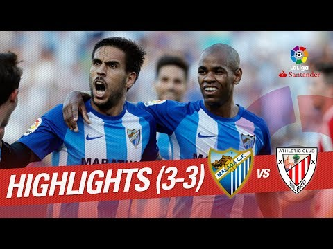 Resumen de Málaga CF vs Athletic Club (3-3)